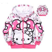 Retail 1pcs 1lot cartoon clothes girls sweater 100 cotton sweater girls clothing hoodie free shipping