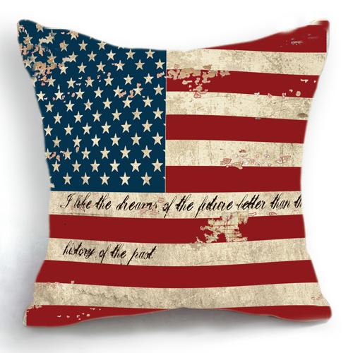 Scandinavian Coussin Decoration Retro Vintage American Flag Decorative Pillows Home Decor Cushion Cojines Decorativos Almofadas