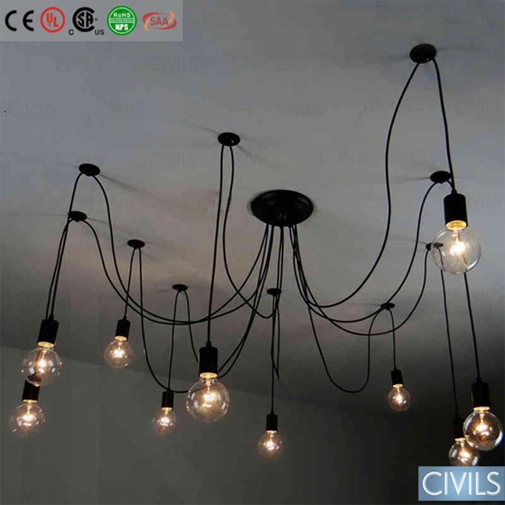 edison filament bulb vintage chandelier pendant lamp buy vintage chandelier edison filament. Black Bedroom Furniture Sets. Home Design Ideas