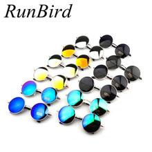 Vintage Steampunk Sunglasses Round Designer Steam Punk Metal Oculos de sol masculino Women Coating Men Retro Sun glasses YJ129