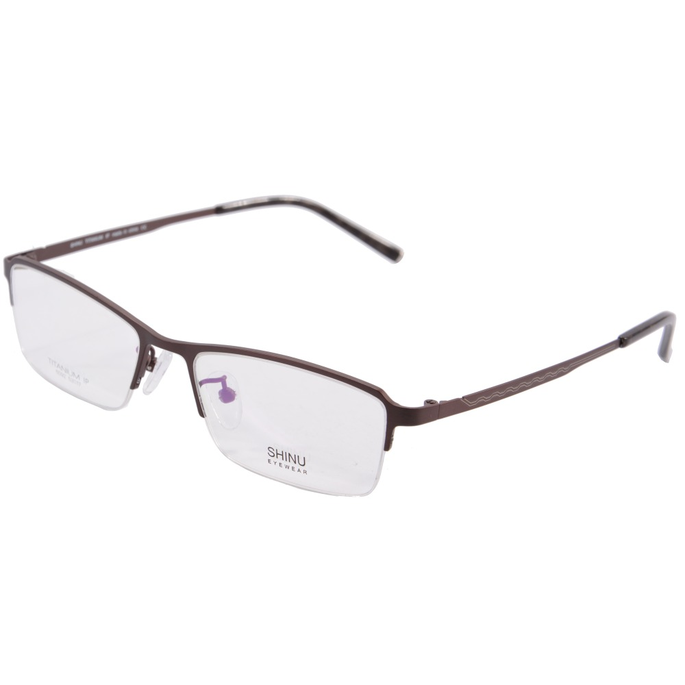 0e8e5a7432 Men Colored Half Rim Titanium Eyeglass Frame