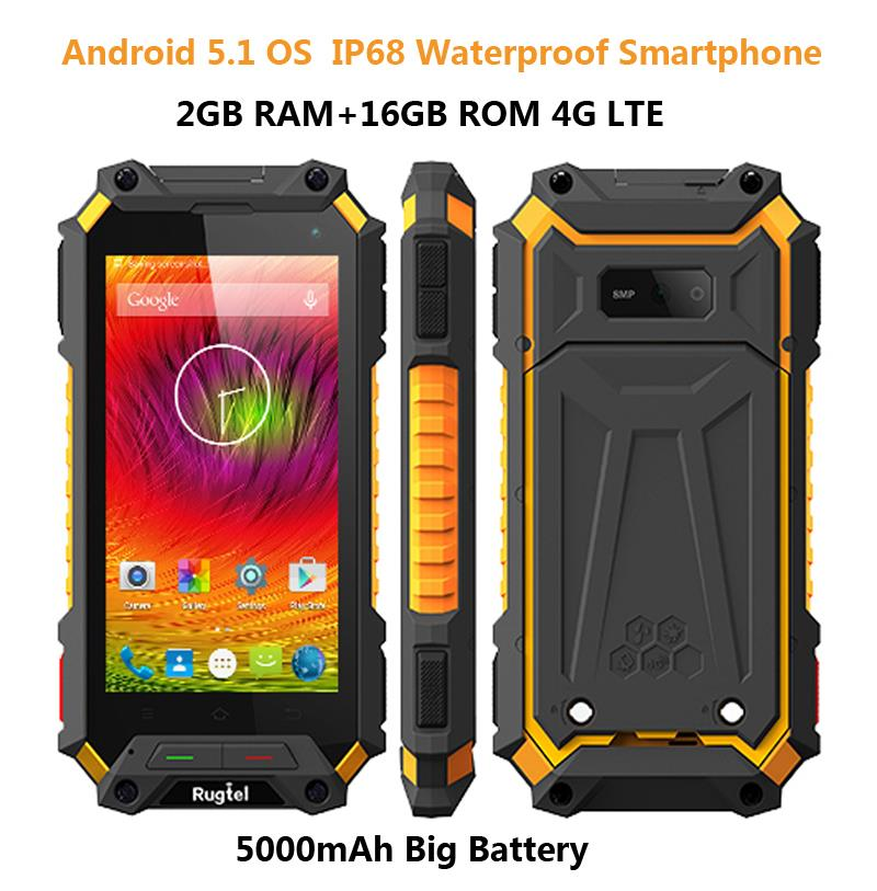 Ip68 Rugged Android 5 1 Smartphone Waterproof Phone X10 Mtk6735 Quad Core 5000mah 2g Ram 4g Lte Shockproof Mobile X1 Gps In Phones From
