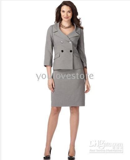 Suit Women S Suits Gray Women Skirt Suit Double