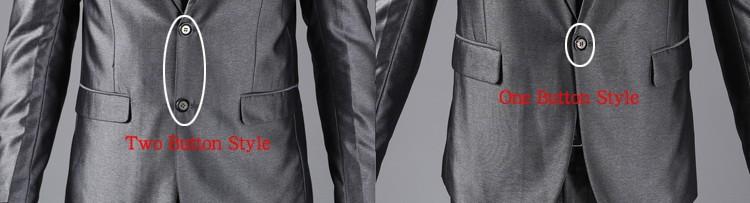 (Kurtki + Spodnie) 2016 Nowych Mężczyzna Garnitury Slim Fit Niestandardowe Garnitury Smokingi Marka Moda Bridegroon Biznes Suknia Ślubna Blazer H0285 1