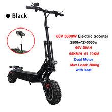 5000 Вт Мощный электрический скутер внедорожный скейтборд Лонгборд высокая скорость 95 км/ч Электрический скутер для взрослых Электрический ...(Китай)