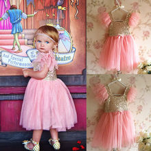Bling Pinks Princess Baby Kids Girls font b Dress b font Party Gown Formal font b