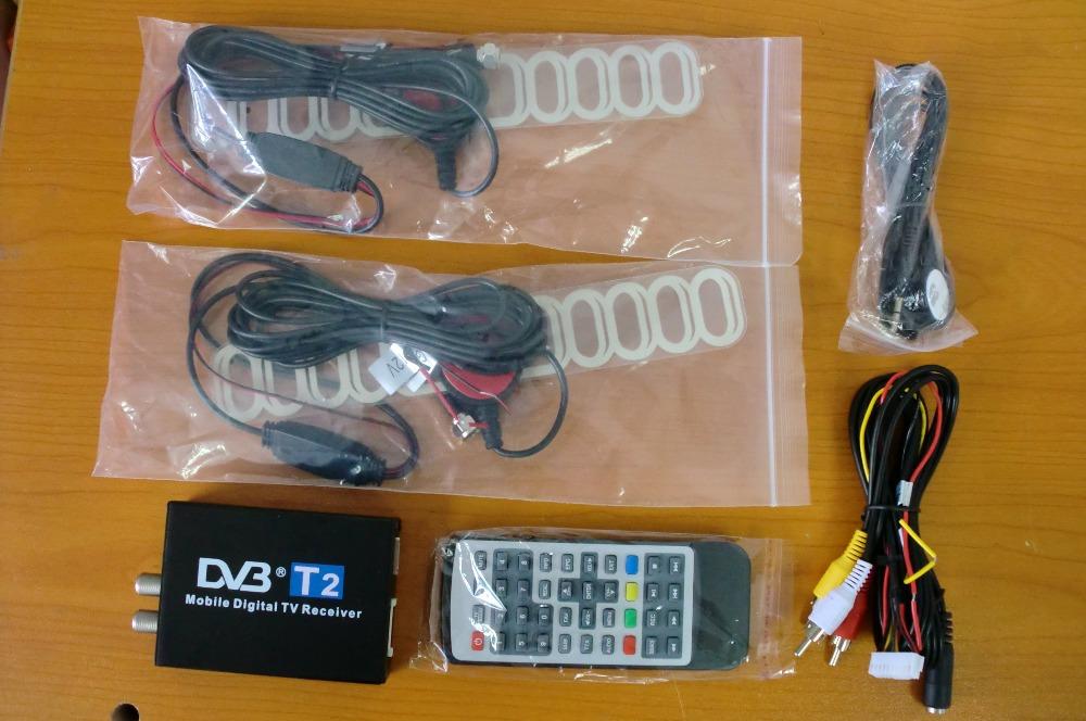 120 км/ч двойной антенна авто DVB T2 цифровое телевидение коробка внешний USB DVB-T2 авто тв россии и европы и юго-восточной азии