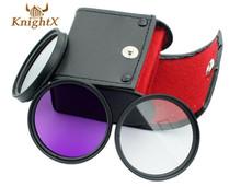 UV CPL FLD Filter Kit for Camera font b lens b font 18 55MM 18 135mm