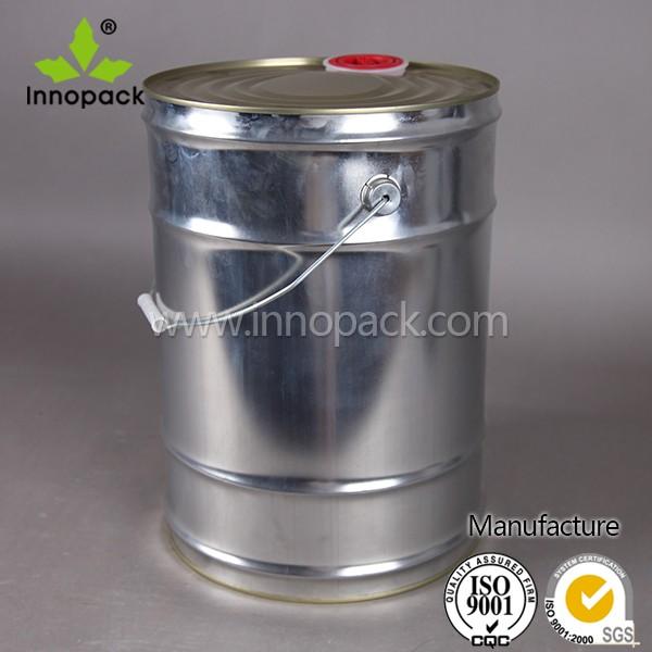 25L cubo de lata de aceite de cierre superior con pico tapa Venta al por mayor, la fabricación, la producción
