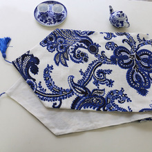 Buy Blue And White Table Runner And Get Free Shipping On Aliexpresscom