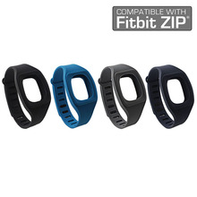 High-Quality 4Pcs Fitbit Zip Replacement Bands Fitness Accessory Wristband Bracelet (No tracker) Silicon/Rubber
