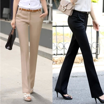 Formal Office Lady slim plus size western style trousers foveralls women pants D34