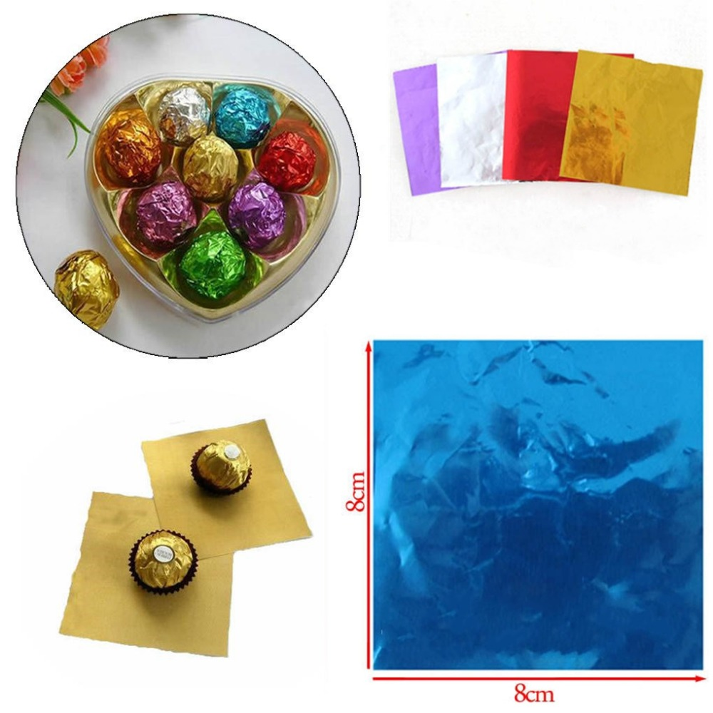 Pcs Pack Cake Candy Chocolate Foil Wrappers