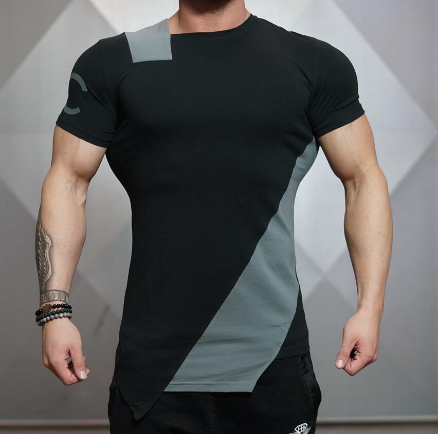 7d49de4c5c4 Wholesale Men Summer Style Fashion T Shirts Fitness And Bodybuilding ...