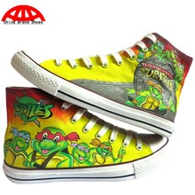 China Brand Shoes Teenage Mutant Ninja Turtles Boy Girl Child Hand Painted Shoes Kids Children Anime