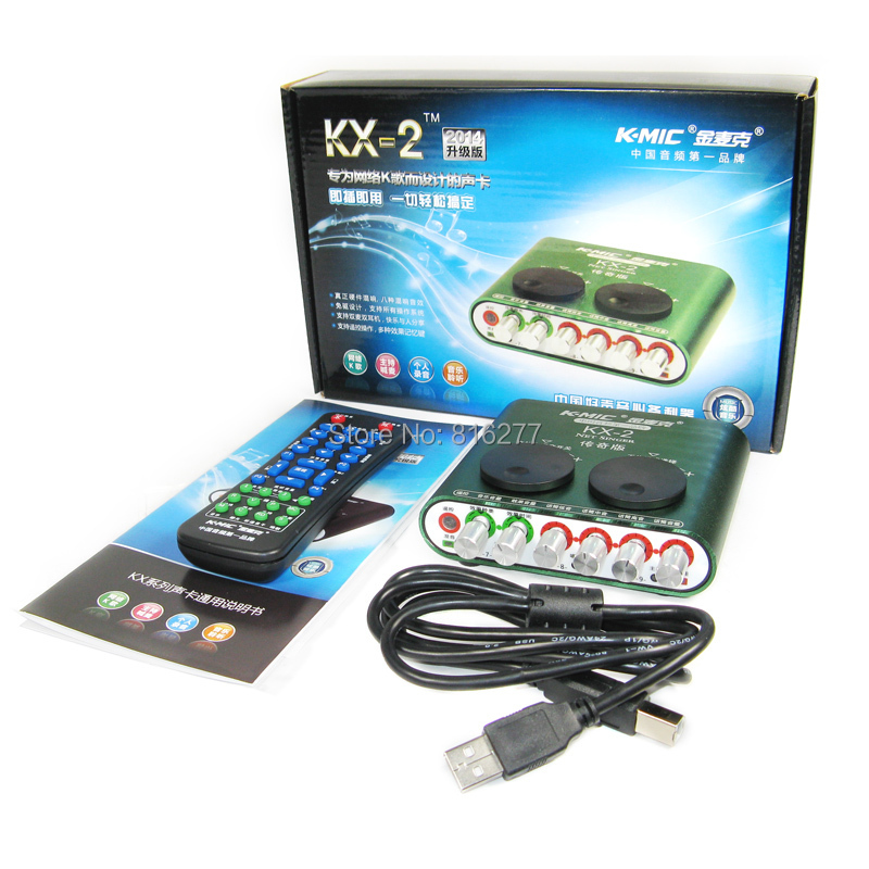 K-mic Kx-2 professional usb sound card computer external sound card 5 1 usb  audio device audio interface