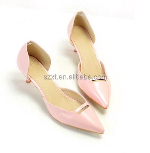 Pink Low Heel Dress Shoes - Heels Zone 2490887499fd