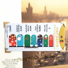 Merry Xmas Party Time Nail Arts Sticker 14 pcs set Waterproof Nail Decals Art Stickers Manicure