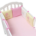 6pcs Cotton Infant Baby Crib Bumper Bed Protector Baby Kids Bedding Set Cloth 30x30cm