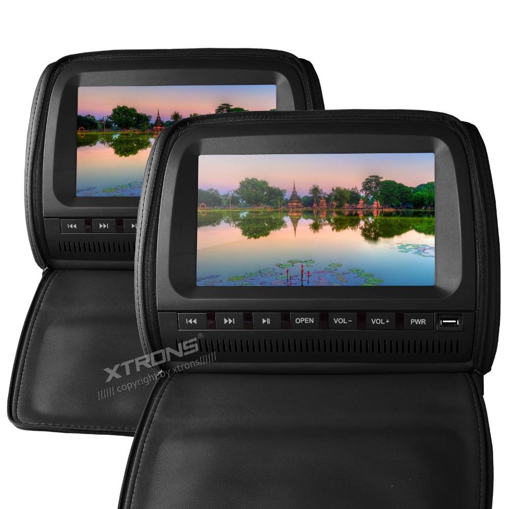 xtrons 2x9 noir appui t te moniteur de voiture lecteur dvd avec cran num rique ir transmetteur. Black Bedroom Furniture Sets. Home Design Ideas