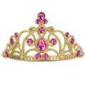 Europe Fashion Froze n Gold Plated Girl Fairy Tiaras Crown Hot Pink Kids Hairband Enfants Fancy