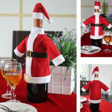 Krásný obleček na láhev vína – vánoční motiv