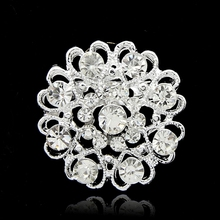 Four color for choice beautiful rhinestone brooches pin for wedding  big brooch for dresses
