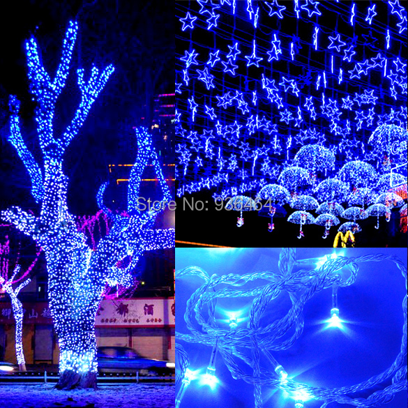 hot sale free shipping 2015 50m 300 led blue lights. Black Bedroom Furniture Sets. Home Design Ideas