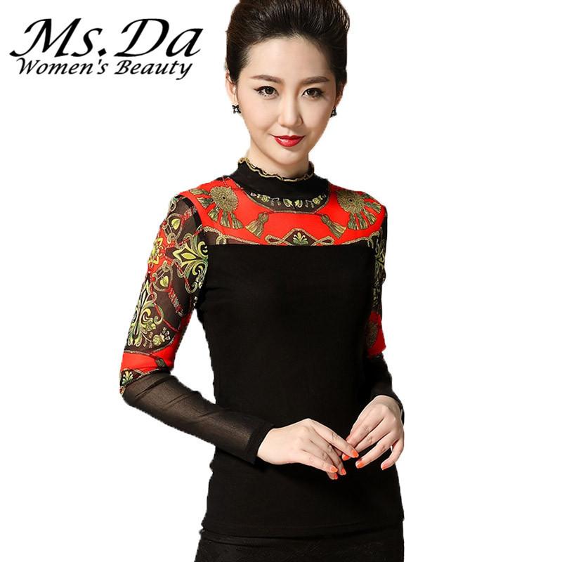 Aliexpress.com : Buy Plus Size Turtleneck T shirts Women ...