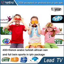 Leadtv French Arabic IPTV Apk 1 Year Free 400 Live TV For Android Box Arabic Iptv Receiver Sport Canal With Cable Free Shipping