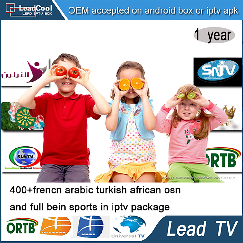 Leadtv French Arabic IPTV Apk 1 Year Free 400 Live TV For Android Box  Arabic Iptv Receiver Sport Canal With Cable Free Shipping - drone4sky