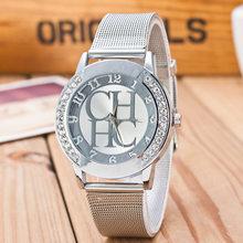 Для женщин часы Reloj Mujer кварцевые часы Для женщин лучший бренд роскошные золотые Нержавеющаясталь наручные часы женские часы Relogio Feminino(Китай)