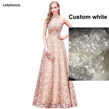 Женское вечернее платье, длинное кружевное платье с цветочным поясом, вечерние платья для выпускного вечера(Китай)