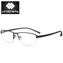 Оправа для очков без оправы из титанового сплава, мужские Оптические очки для близорукости, прозрачные корейские очки(Китай)