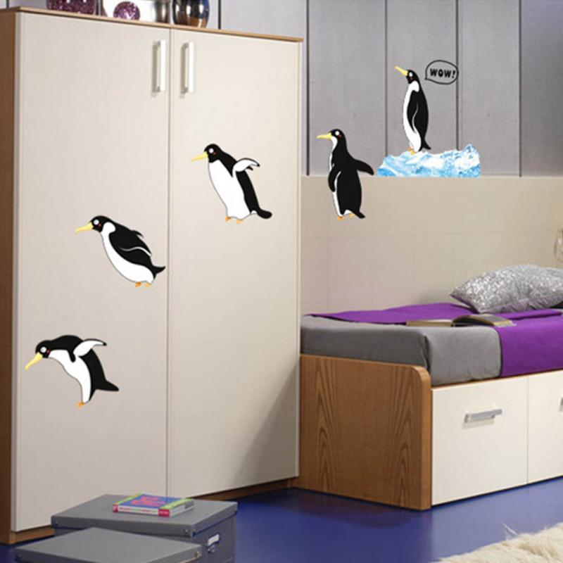 Cute Diving Penguin Pattern Wall Decal Sticker Home Decor Kids Bedroom Baby Nursery DIY Vinyl Art Decals