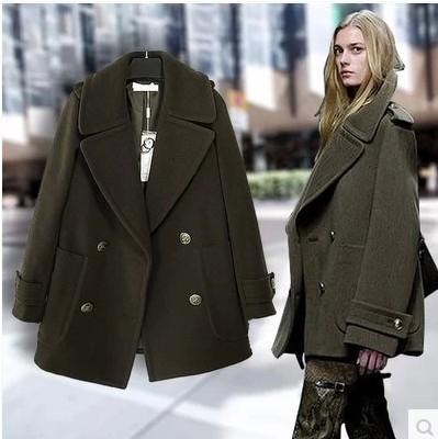 Military Wool Coat Womens Han Coats