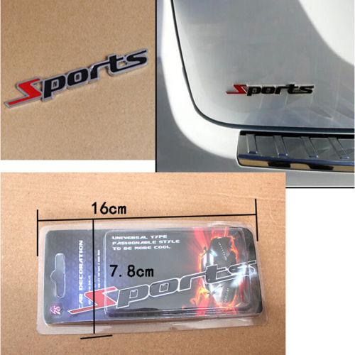 1 X горячей спорт слово письмо 3D хром металлический наклейки герба знак наклейка авто декор