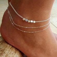 Индийская цепочка золотого цвета с гравировкой сердца, очаровательные ножные браслеты для женщин, браслет на ногу, женский браслет на ногу, ...(Китай)