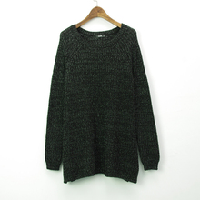 2015 Fashion Colored Wool O-Neck Women's Long Sleeve Pullover Sweater of Computer Knitted