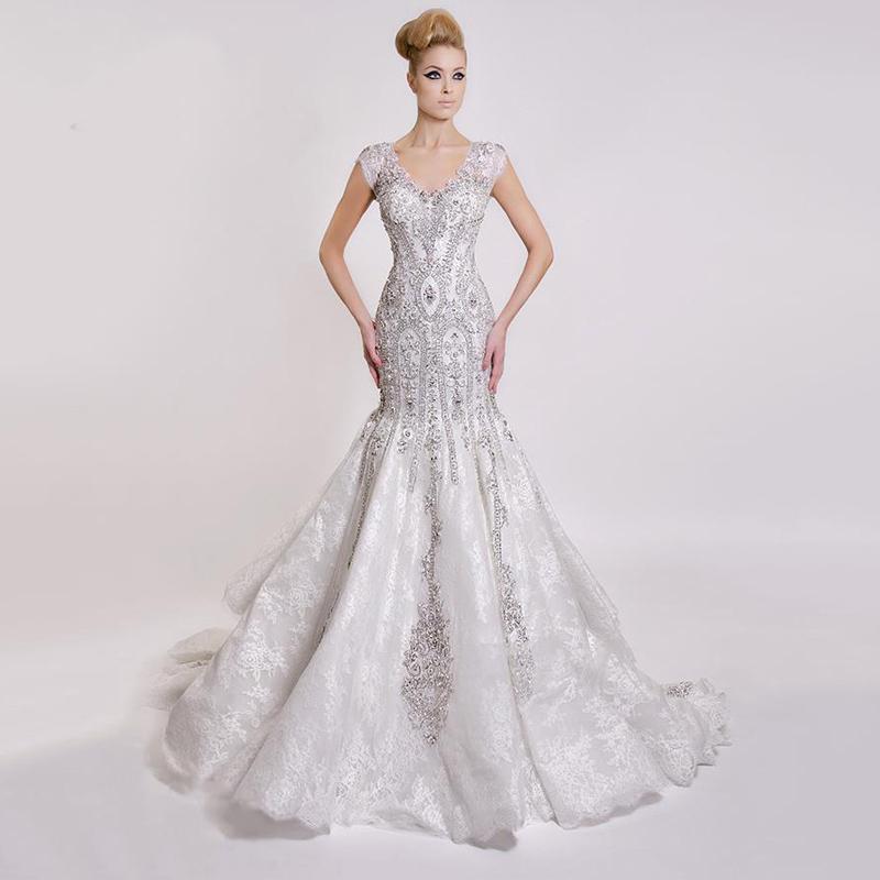 Aliexpress Com Buy Elegant Flare Sleeve Wedding Dress: Popular Lace Fit And Flare Wedding Dress-Buy Cheap Lace
