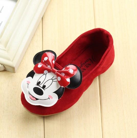 Brand designer fashion sneaker children girls single shoes cute cartoon princess flat shoes kids girl dance