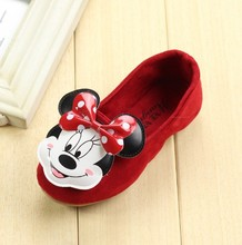 Brand designer fashion sneaker children girls single shoes cute cartoon princess flat shoes kids girl dance shoes
