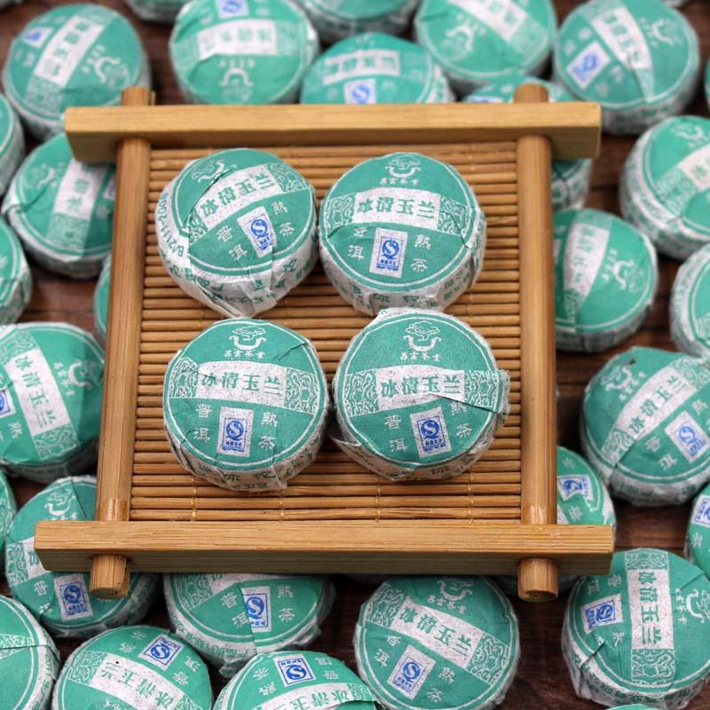 Chinese Mini Yunnan Puer Tea, Magnolia flower tea Flavor Pu er, tea for weight loss