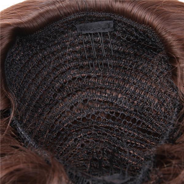 1 пк синтетический волос шиньон булочки парики естественная прямой волосы частей Fast кольцо бун расширение жаропрочный шиньоны Q9