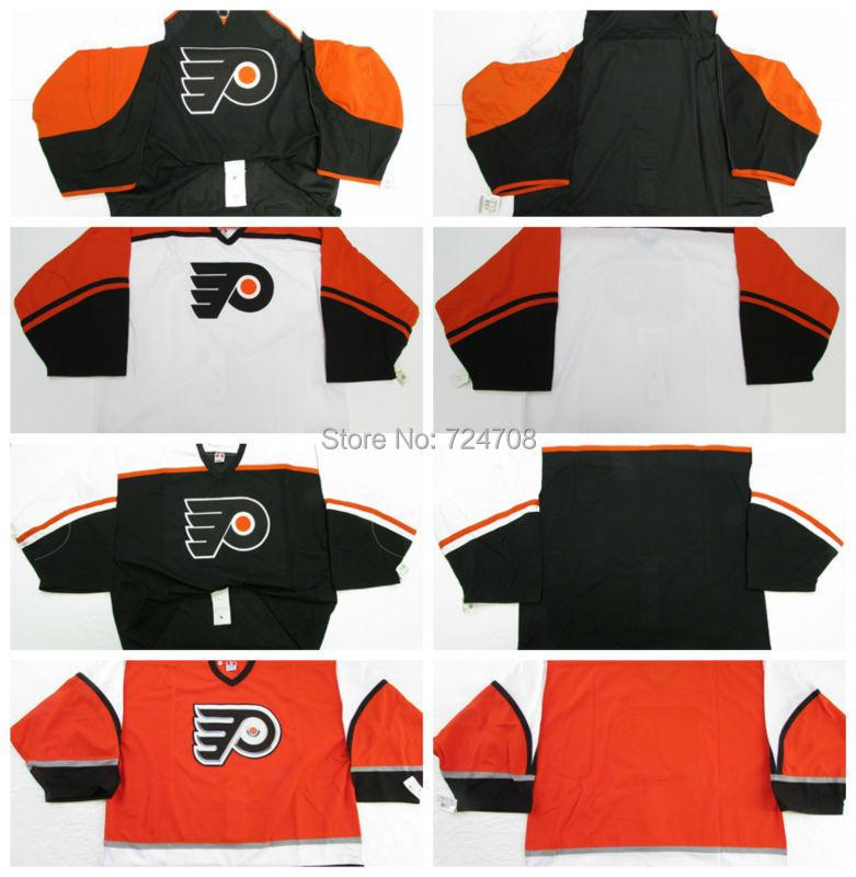 9b54f5a7c ... NHL game customize philadelphia flyers jerseys goalie cut Jersey  homeawaythird whiteblack ...