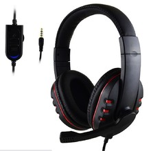 Hot Selling 3.5mm Gamer Over-ear Game Gaming Headphone Headset Earphone Headband with Mic Stereo Bass for ps4