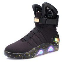 """Для мужчин Баскетбол обувь со светодиодной подсветкой Для мужчин кроссовки высокого качества """"Назад в будущее"""" Обувь с мигающей светодиодн...(Китай)"""