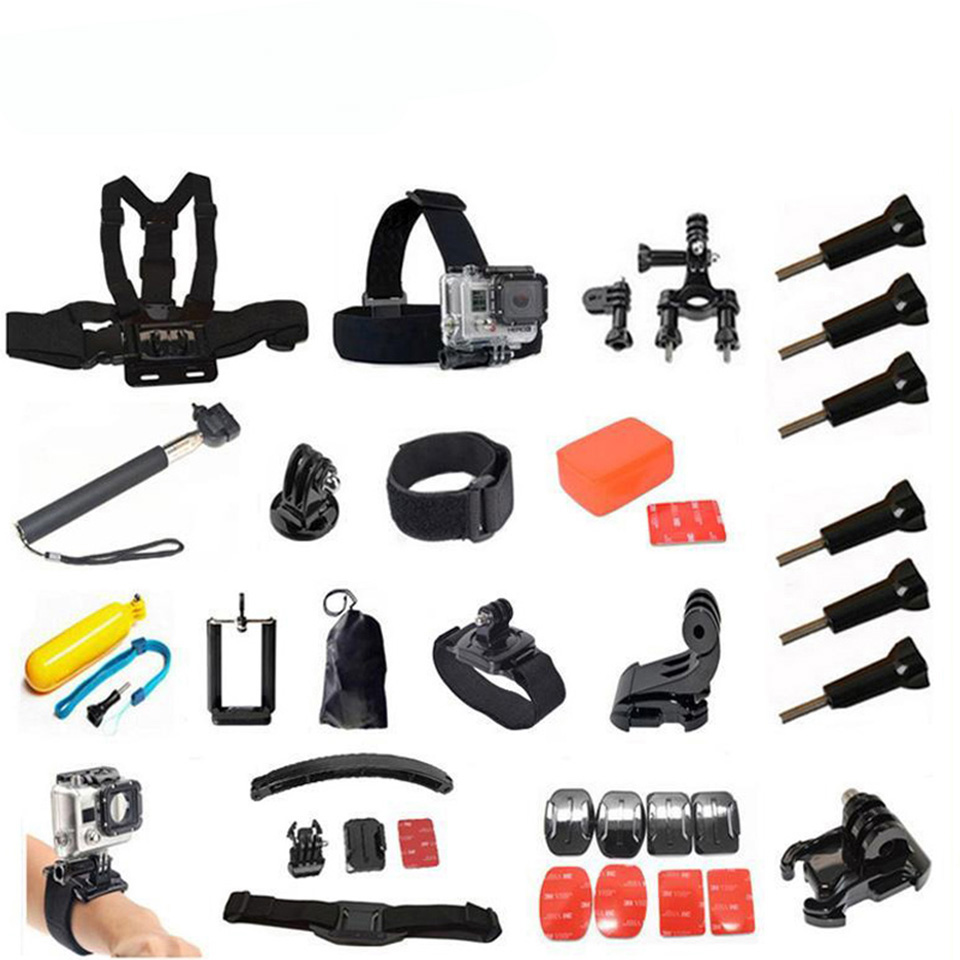 Accessories Set For Gopro Helmet Harness Chest Belt Head Mount Strap Go Pro