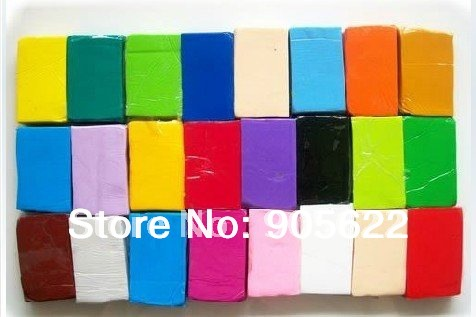 Free Shipping fimo polymer clay Modeling Clay DIY gift Set 24pc of 24 color randomly combined