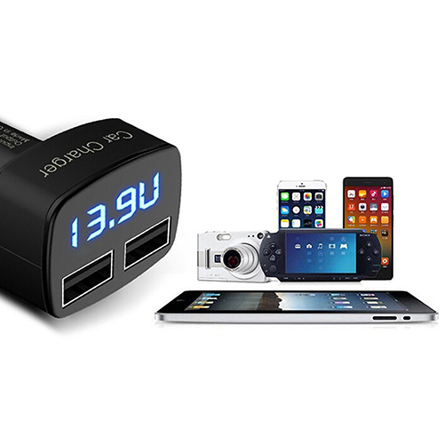 2015 Hot 4 в 1 Dual USB адаптер автомобильное зарядное устройство с напряжение 5 в постоянного тока В 3.1A для iPhone